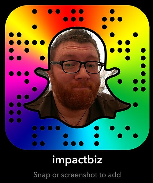 Impact Business Advisors Snapcode - Colourful Version