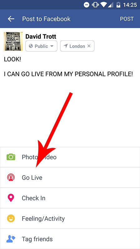 Use Facebook Live From Your Personal Profile